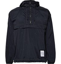 Satisfy Printed Stretch Shell Hooded Anorak Blue