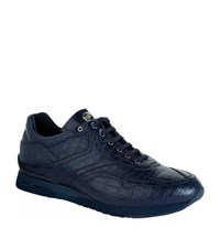 Stefano Ricci Crocodile Sneakers Male Navy