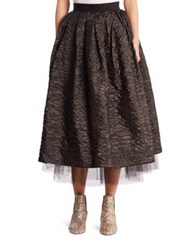 Marc Jacobs Crinkle Taffeta Skirt Black