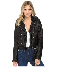 Free People Ashville Vegan Jacket Black Women's Coat