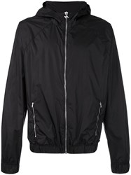 Msgm Printed Hood Jacket Black