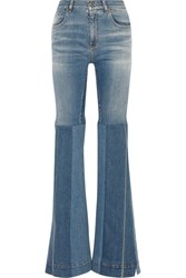 Roberto Cavalli Patchwork High Rise Flared Jeans Blue