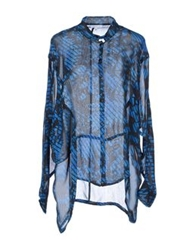 Surface To Air Long Sleeve Shirts Blue