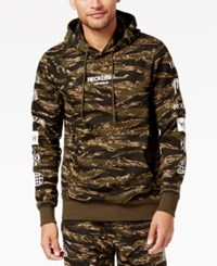 Young And Reckless Men's Malachi Camo Logo Fleece Hoodie