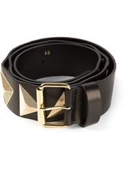 Fausto Puglisi Pyramid Studded Belt Black