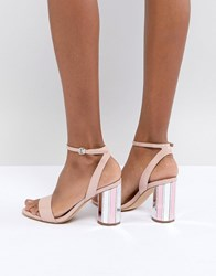 Aldo Two Part Ankle Strap Going Out Show With Mirror Heel Pink
