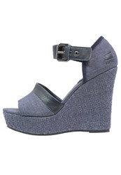 G Star Gstar Harton Sandal High Heeled Sandals Blue Denim