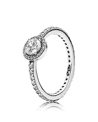 Pandora Design Pandora Ring Sterling Silver And Cubic Zirconia Classic Elegance