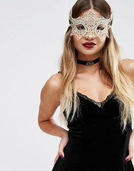 Asos Halloween Magical Costume Mask Gold