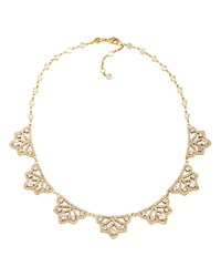 Carolee Bryant Park Openwork Frontal Necklace 16 Gold