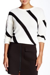 Romeo And Juliet Couture Stripe Pullover Sweater Black