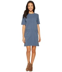 Alternative Apparel Lightweight French Terry Weathered Wash Dress Denim Blue