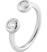 Georg Jensen Aurora 18Ct White Gold And Diamond Ring