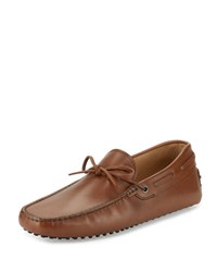 Tod's Gommini Tie Leather Driver Brown