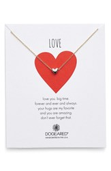Women's Dogeared 'Chain Heart' Pendant Necklace