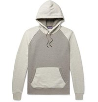 Ralph Lauren Purple Label Colour Block Fleece Back Cotton Blend Jersey Hoodie Gray