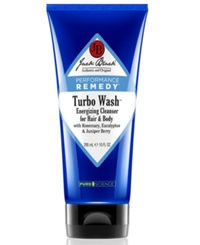 Jack Black Turbo Wash Energizing Cleanser For Hair And Body With Rosemary Eucalyptus And Juniper Berry 10 Oz