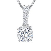 Jools By Jenny Brown Cubic Zirconia Drop Stemmed Stone Necklace Silver