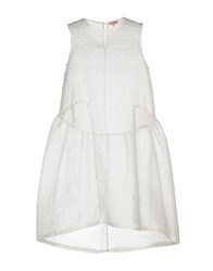 Rose' A Pois Short Dresses White