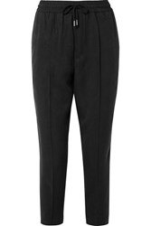 Atm Anthony Thomas Melillo Cropped Twill Tapered Pants Black Gbp