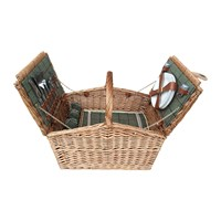 Amara Double Lidded 4 Person Picnic Hamper Green