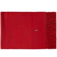 Polo Ralph Lauren Signature Italian Wool Scarf Red