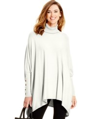 Alfani Turtleneck Poncho Sweater Only At Macy's Cloud