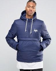 Hype Padded Overhead Jacket Navy Blue