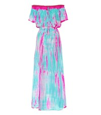 Anna Kosturova Tie Dye Silk Maxi Dress Multicoloured