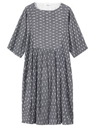 Toast Woven Ikat Dress Grey Off White