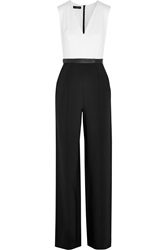 Narciso Rodriguez Silk Crepe De Chine And Crepe Jumpsuit