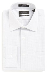 Nordstrom Men's Big And Tall Men's Shop Traditional Fit Non Iron Check Dress Shirt Black Rock