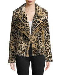 Milly Cheetah Print Faux Fur Jacket