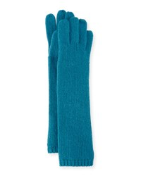 Portolano Long Cashmere Tech Gloves Teal