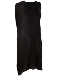 Lost And Found Ria Dunn Draped Silk Dress Black