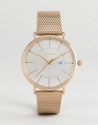 Paul Smith Ps0070002 Petit Track Mesh Watch In Gold 38Mm