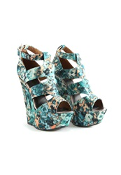 Missguided Green Printed Wedges