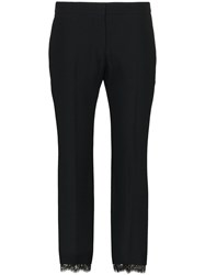 Alexander Mcqueen Cropped Lace Trimmed Trousers 60