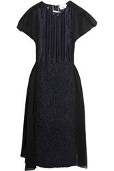 3.1 Phillip Lim Fil Coup And Eacute Chiffon Dress Navy
