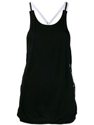 Perfect Moment T Back Bonded Jersey Top Black
