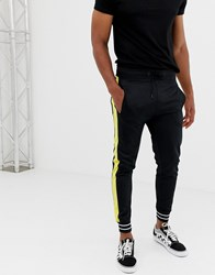 Another Influence Slim Fit Side Panel Joggers Black