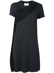 3.1 Phillip Lim Ruffle Detail T Shirt Dress Black
