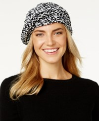 Charter Club Velvety Marled Chenille Beret Only At Macy's Black White