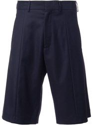 Cmmn Swdn Wide Leg Tailored Shorts Blue