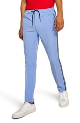 Topman Binding Skinny Fit Jogger Pants Mid Blue