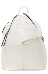 Vince Camuto Small Giani Leather Backpack White Snow White