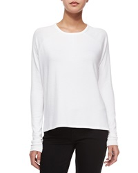 Rag And Bone Rag And Bone Jean Camden Long Sleeve Raglan Tee Bright White