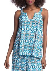 Plenty By Tracy Reese Keyhole Tank Top Blue
