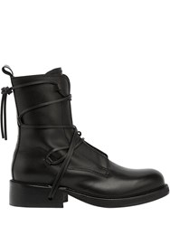 Bikkembergs Squadron Lace Up Leather Boots Black
