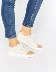 Monki Minni Canvas Shoe Off White